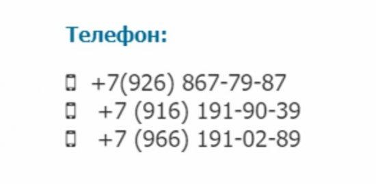 Контакты интернет-магазина Панрыболов