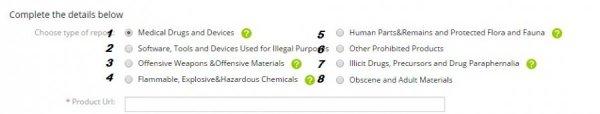 Список запрещенных товаров