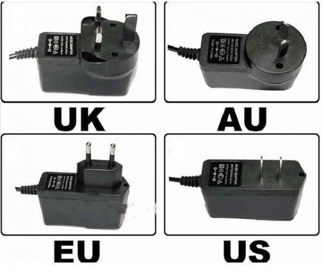 Штекеры для разных государств
