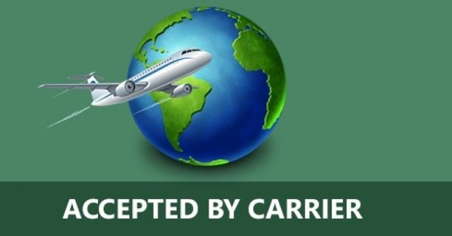 Accepted by carrier
